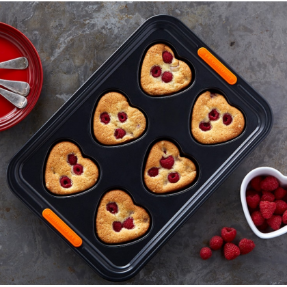 Heart Shaped Muffin Tray 6 Cup TNS (PREORDER)